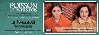 """Jeu concours : """"Poisson et petits pois !"""" avec Marie Hélène Lentini et Dorothée Martinet, une magnifique pièce d' Ana Maria Bamberger"""