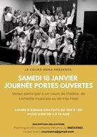 Profitez des Portes Ouvertes des Cours Anna et participez à un cours gratuit pour les enfants et ado de 4 à 18 ans ce Samedi 18 Janvier 2020