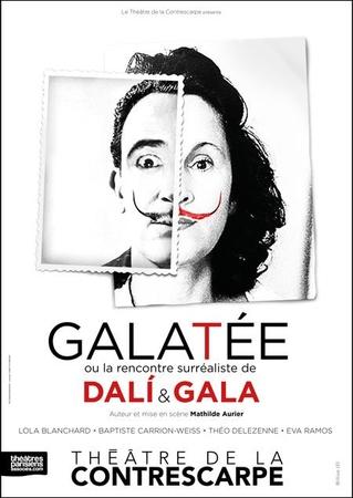 """""""Galatée ou la rencontre surréaliste de Dali & Gala"""" au théâtre de la Contrescarpe"""