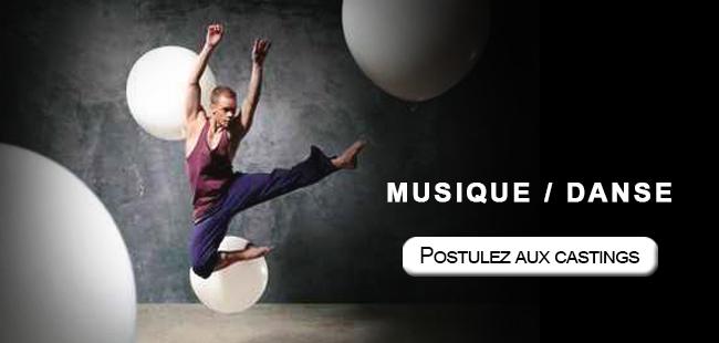 Musique et danse postulez aux castings